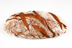 Bread. Dark bread with white background Stock Images