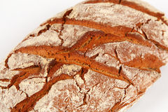 Bread. Dark bread with white background Stock Photo