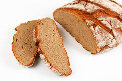 Bread. Dark bread with white background Royalty Free Stock Photography