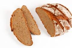 Bread. Dark bread with white background Stock Image
