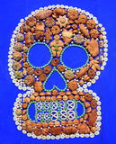 Bread of the day of the dead. Skull made by typical bread of the day of the dead, as part of the celebration of the day of the dead in mexico city Stock Photography