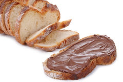 Bread and delicious chocolate Stock Photography