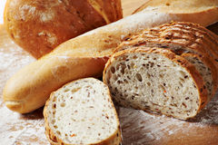 Bread on the desk Stock Photography