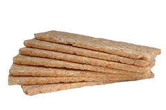 Bread dietary. Bread from пророщенной wheat for a dietary food on a white background Stock Photo