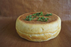 Bread with dill stock photography