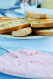 Bread and dip Stock Images