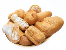 Bread on the dish  Royalty Free Stock Photography
