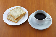 Bread dish and coffee Royalty Free Stock Photos