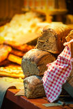 Bread on display at a outdoor market Stock Photography