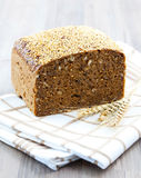 Bread on distowel Stock Photo