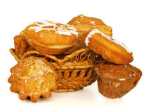 Bread and donuts Stock Images