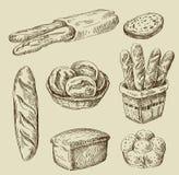 Bread doodle Stock Photos