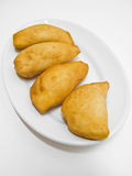 Bread dough panzerotti. Italian food. Royalty Free Stock Photography