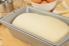 Bread dough rising Stock Images