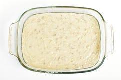 Bread dough top view Stock Photos