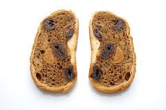 Bread with dried fruit Stock Photography