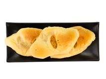 Bread with dried shredded pork on white background. clipping path royalty free stock photo