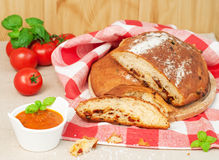 Bread with dried tomatos Royalty Free Stock Image