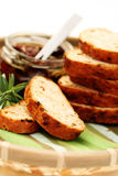Bread with dry tomatoes Royalty Free Stock Photos