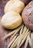 bread with ear of wheat Stock Image