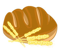 Bread and ear of the wheat Stock Images