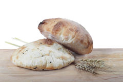 Bread with ears of barley Stock Photography