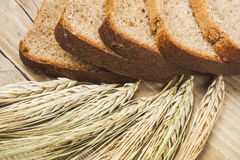 Bread and ears Stock Images