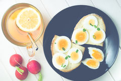 Bread with egg Stock Photography