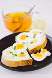 Bread with egg Royalty Free Stock Image
