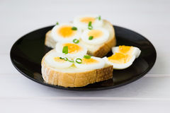 Bread with egg Stock Image
