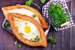 Bread with egg Royalty Free Stock Photo