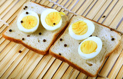 Bread and eggs Royalty Free Stock Image