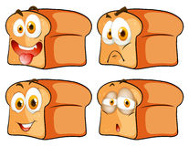 Bread with facial expression stock illustration