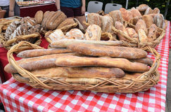 Bread at Farmers Market Stock Photo