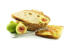 Bread and figs Royalty Free Stock Images