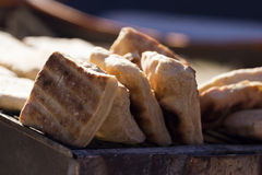 Bread fire grill Stock Images