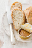 Bread with fish pate Stock Photography