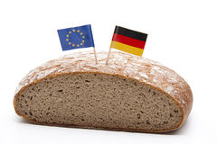 Bread with flag Stock Image