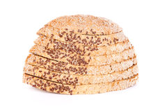 Bread with flax Stock Photo
