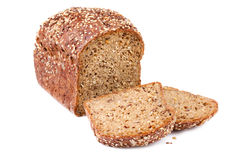 Bread with Flaxseed royalty free stock images