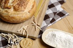 Bread and Flour Royalty Free Stock Image