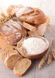 Bread and flour Royalty Free Stock Photo