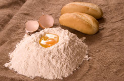 Bread flour eggs Royalty Free Stock Image