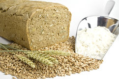 Bread, flour and grain Royalty Free Stock Photography