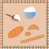Bread with flour Royalty Free Stock Photo