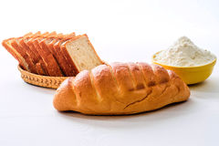 Bread and flour Royalty Free Stock Images