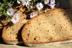 Bread And Flowers Royalty Free Stock Image