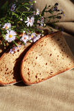 Bread And Flowers Royalty Free Stock Photography