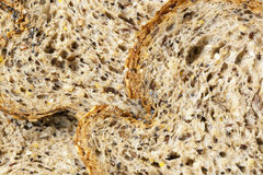Bread Food Background. Full-frame multigrain with seeds Stock Images