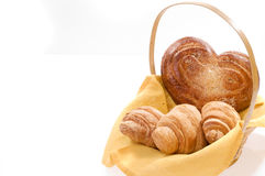 Bread food in a basket Stock Photography